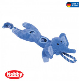 2 in 1 plush elephant with rope 55 cm