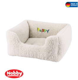 "COMFORT BED SQUARE ""PUPPY""IVORY 45X40X18CM"