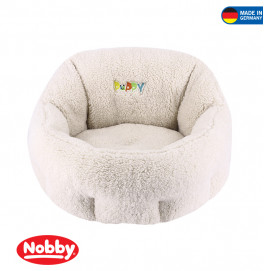"COMFORT BED OVAL ""PUPPY""IVORY 50X45X32CM"