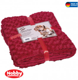 "FLEECE PLAID ""SUPER SOFT""RED S 60X85CM"