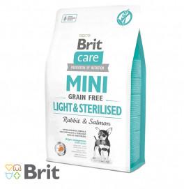 Brit Care Mini Grain Free Light And Sterilised 2KG