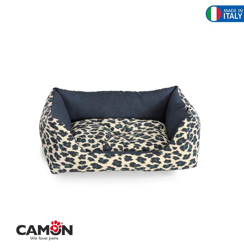 "Rectangular Bed ""Leopard"" | 55x45CM"