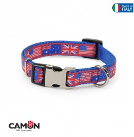 COLLAR METBUCK FLAG BLUE 25MM