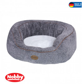 "Comfort bed oval ""JOLAN"" light grey"