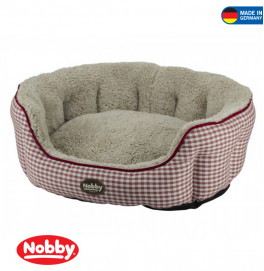 "Comfort bed oval ""XAVER"" red"