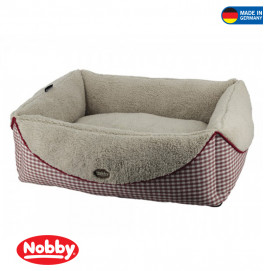 "Comfort bed square ""XAVER"" red 70x56x21cm"