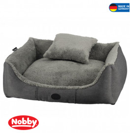 "Comfort bed with cushion square ""KEMBA"" grey 75x60x23cm"
