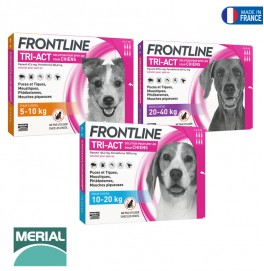 FRONTLINE TRI-ACT DOG 3 PIPETTES