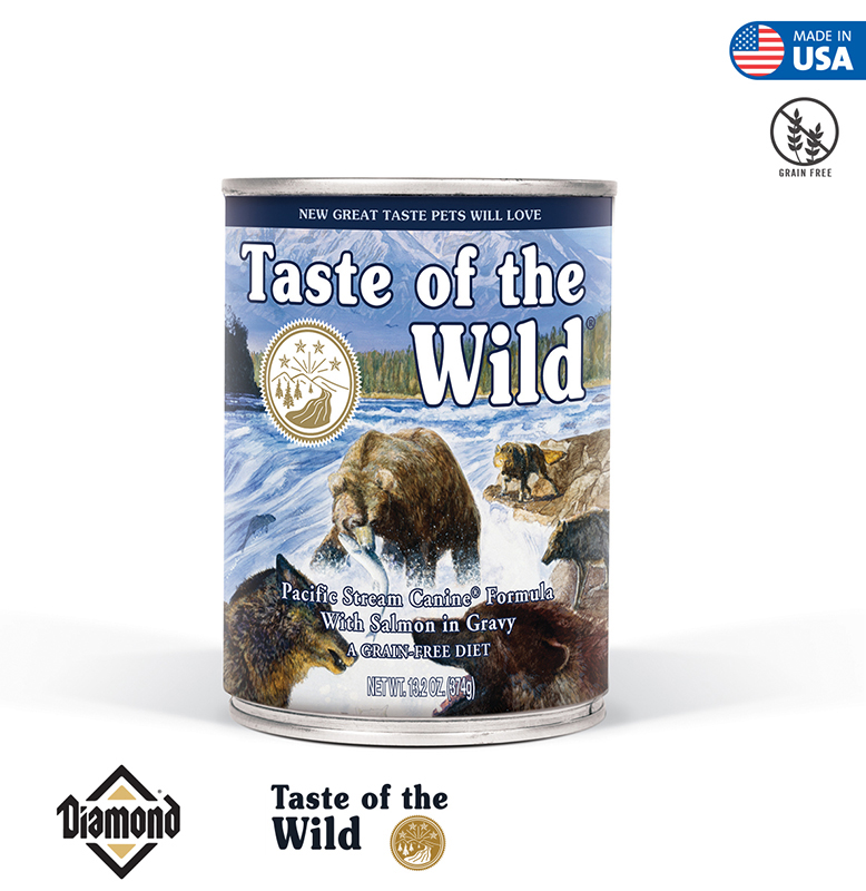 Taste Of The Wild Pacific Stream Canine Formula With Salmon in Gravy 374GR