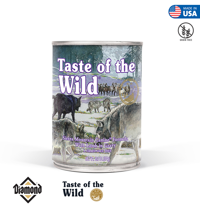 Taste Of The Wild Sierra Mountain Canine Formula With Lamb in Gravy 374GR