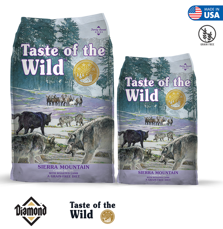 Taste Of The Wild Sierra Mountain Canine Formula With Roasted Lamb 2KG/13KG (25/15)