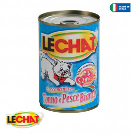 LeChat Chunkies with Tuna/White Fish 400g