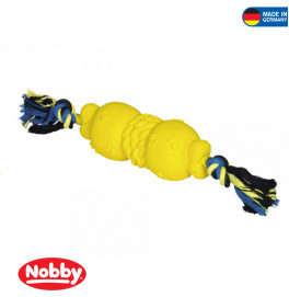 Latex dumbbell with rope 40cm