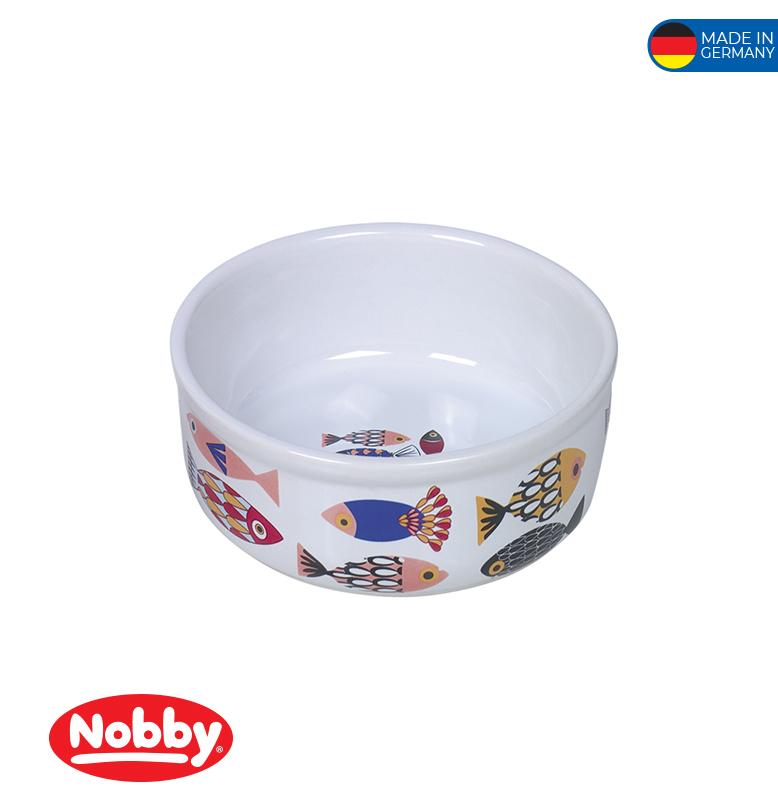 """Ceramic Cat Dish """"FISH""""  13,5 x 4,5cm; 0,25L"""
