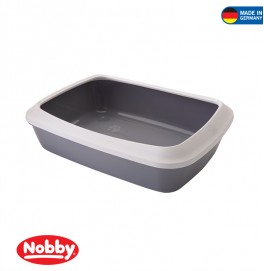 Cat toilet with edge Iriz grey-white 42 x 31 x 12.5 cm