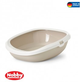 Cat toilet Gizmo Medium mocca-white 44 x 35.5 x 12.5 cm