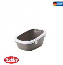 Cat Toilett Simba warmgrey-white 64 x 46 x 31 cm