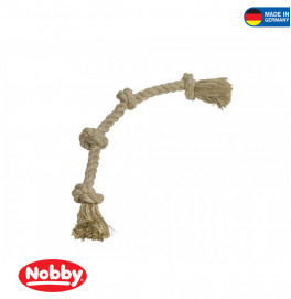 Rope Toy, rope Sisal-Cotton-Mix 4 knots