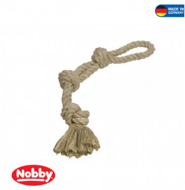 Rope Toy, rope double Sisal-Cotton-Mix 2knots