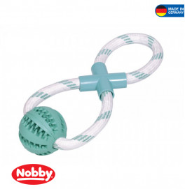 """Rubber Ball with rope """"DENTAL LINE"""" 30cm"""