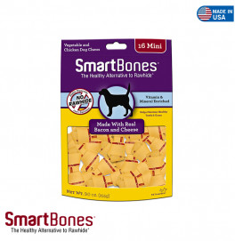 SMART BONES BACON AND CHEESE MINI 16 PIECES