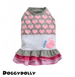Think pink Grey Dress - L