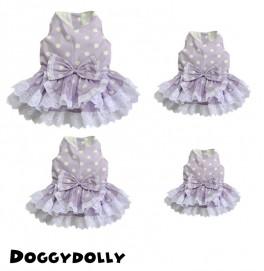 Purple and White Dots Dress