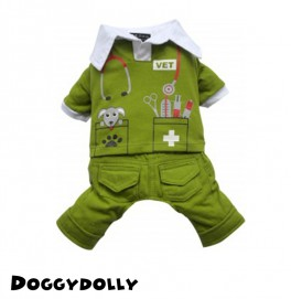 Vet Clothes Green M