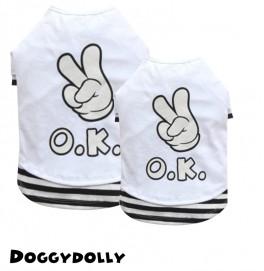 White OK T-shirt