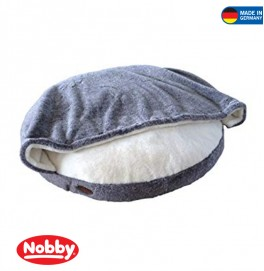 Comfort Cushion round CUDDLY with Blanky Ø 92 cm Grey/White
