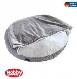 Comfort Cushion round CUDDLY with Blanky Ø 92 cm Light Brown/Beige