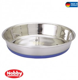Stainless steel bowl SHALLOW anti slip 0.55 L 16.5 cm
