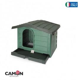 DOG KENNEL L GREEN 110x94x77h CM