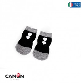 PET SOCKS - BLACK -MD- SIZE 2