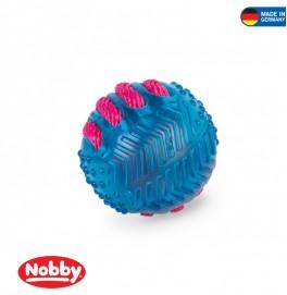 BALL WITH NYLON BLUE 8.5CM
