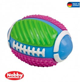 Rugby ball with bell multi colour 11.5 cm
