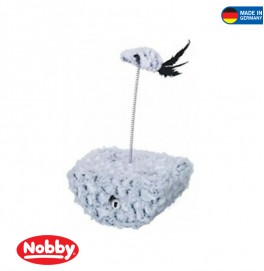 CAT TOY STANDUP GREY/BLACK 19  X 14 X 33 CM