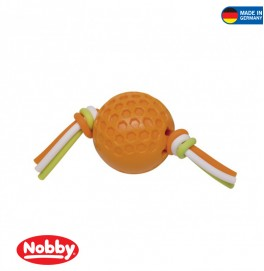 ball with silicon thread orange 7.5 cm