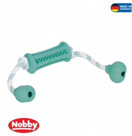 Rubber stick with rope DENTAL FUN bicolour 37 x 9 cm