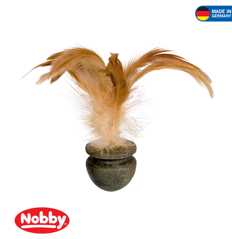 Catnip rotary with feathers 4 cm / 16 cm
