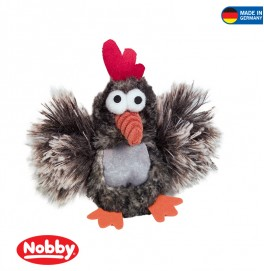 Plush chicken with catnip bag 13 cm