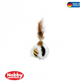 PLUSH BALL WITH FEATHER WITH CATNIP 5CM