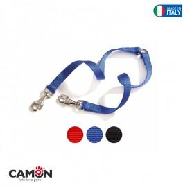 Nylon twin leash 15x350 mm