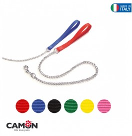 NYLON LEASH WITH CHAIN 16*800