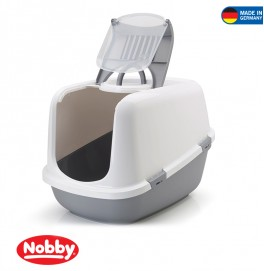 CAT TOILET NESTOR JUMBO GREY 66.5*48.5*46.5CM