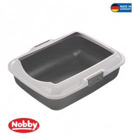 CAT TOILET WITH EDGE GREY 50x40x16cm