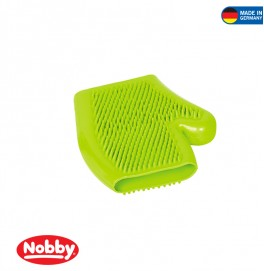 RUBBER MASSAGE GLOVE GREEN