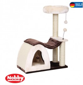CAT-SCRATCHER CHALIA BEIGE BROWN 70 X 35 X 92.5 CM